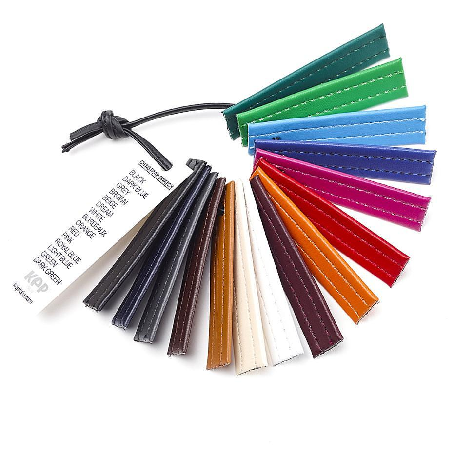 Una pequeña muestra de las paletas de colores disponibles para el casco KEP.