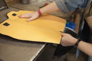 Detalle del patrón y montaje de la bota