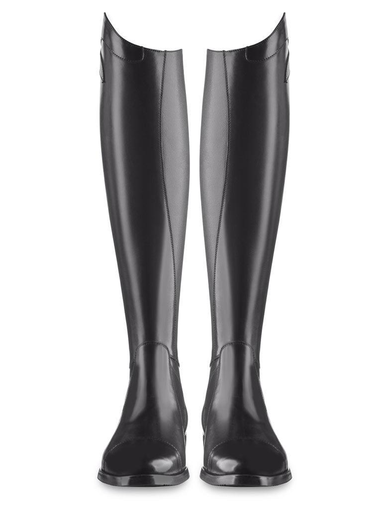 Las botas EGO7 Aries. Unas botas de equitación sin cordones y de cuero negro.