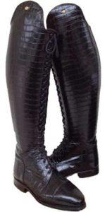 Botas de equitación con efecto Piel de Cocodrilo
