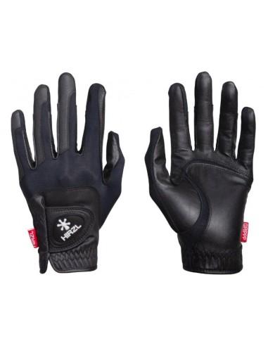 Un par de guantes de equitación Hirzl Gripp Compression; unos guantes cortos y bastante arropados..