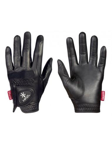 Un par de guantes de equitación Hirzl Gripp Elite; unos guantes cortos y con buen agarre.