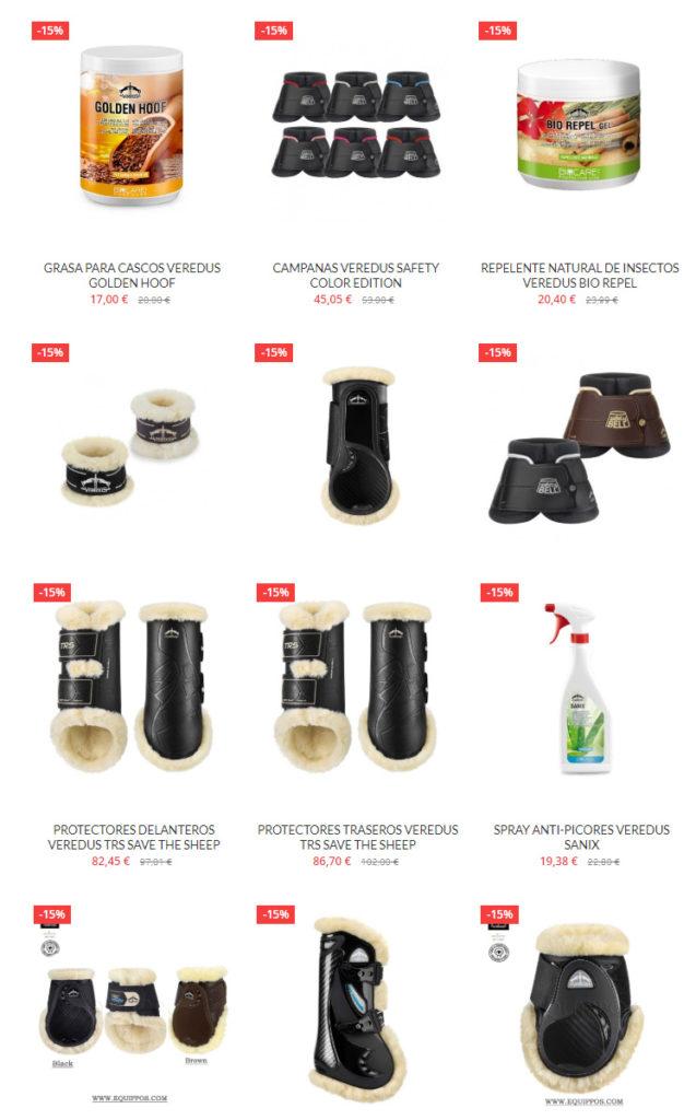 Oferta del 15% en productos de la marca Veredus por tiempo limitado en www.equippos.com