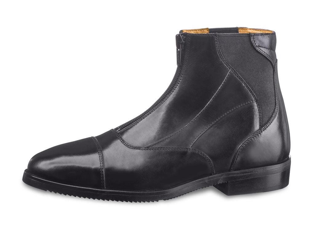 Los botines taurus de EGO7, en cuero negro y con unas cómodas bandas elásticas.