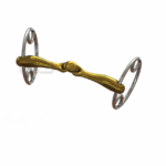 Filete para caballos con swiwel doble partido de color bronce.